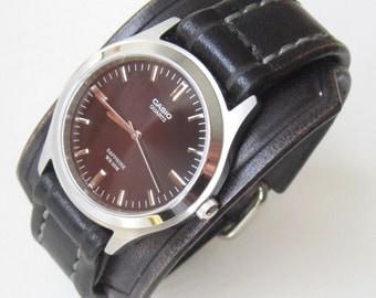 Leather Watch, Casio Watch,