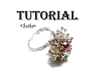 Sparkling Bouquet Wire Wrap Ring Tutorial Wire Wrap Jewelry Tutorial Jewelry Ring Tutorial Wirework Tutorial DIY Jewelry Ring Tutorial