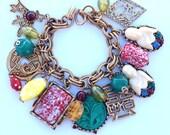 Napier Asian Loaded Charm Bangle Bracelet