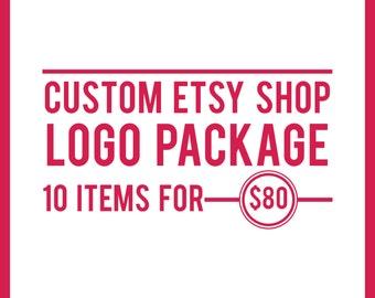 Shop Banner, Custom Branding Package, Etsy Shop Branding Package, Logo Design, Custom Banner, Custom Logo, Etsy Shop Logo, Etsy Branding