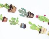 DIY Removable Adhesive Masking Deco Washi Tape - Cactus Plant (3cm Width)