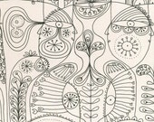 Art therapy colouring page - instant download - relaxing hobby