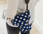 Top Padded DSLR Camera Bag Cotton Duck Designer Polka Dot Fabric  | DLSR Camera Travel Bag Summer 2016 | USA Handmade Ready to Ship