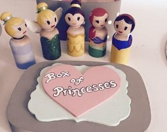 PRINCESS PEGS-- Choose the princesses of your choice!