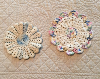 Set of two Vintage Handmade Potholders