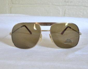 Deadstock Vintage Men Sunglasses Metal Sunglasses 80s Sunglasses Hipster Sunglasses Retro Sunglasses 1980s Sunglasses Sun Glasses