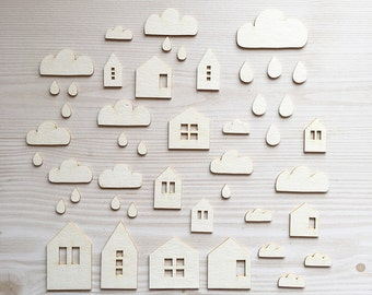 HOUSE & CLOUD- Cut shapes