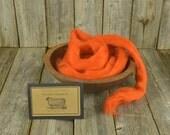 NEW Pumpkin - Needle Felting  Wool - Natural Wool Roving - Wet Felting Wool-Nuno Felting-Spinning