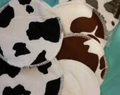 6 reusable flannel cotton nursing pads for bra A B C D DD nursing breastfeeding - utterly nipple