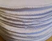 6 reusable flannel cotton nursing pads for bra A B C D DD nursing breastfeeding milk  soaker - simply white flannel