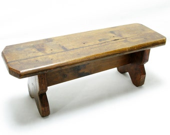 Wooden Footstool, French Footstool, Stool, Plant Table, Decorated Footstool, Small French Table 1930s, Vintage French Plant TaBLE