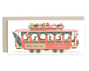 Christmas Trolley - No. 10 Holiday Greeting Card