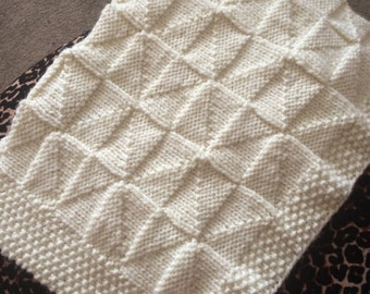 Windmill Baby Blanket Knitting Pattern, PDF, Worsted yarn, Pram, Instant Download