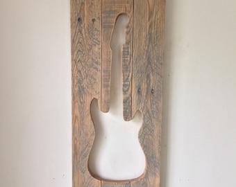 Rustic Guitar Cut Out