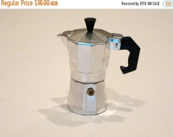 MOVING SALE Vintage Miniature Espresso Maker with Extra Filter and Rubber Seal  Unused Condition
