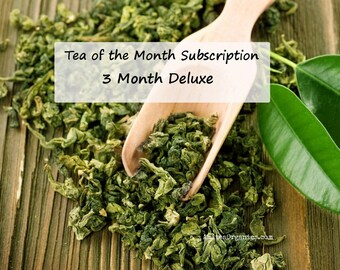 Tea of the Month + Surprise / Organic 3 MONTH DELUXE /Subscription /Free shipping /College Care Pkg /Get Well Soon /Birthday /Any Occasion