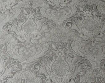 Grey Velvet Upholstery Fabric