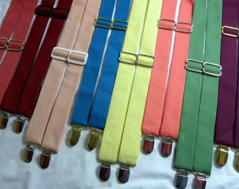 WEDDING SUSPENDERS. 50+ Bridal Colors to Choose From. Ring Bearer and Groomsmen Suspenders. Free Shipping Offer.