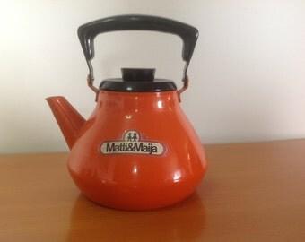 Vintage retro tea pot Matti&Maija 1,5 l made in Finland