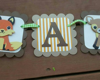 ITS A BOY Woodland baby shower banner, garland, party decoration