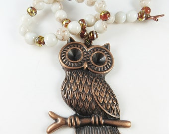 Fun owl necklace