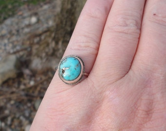 Easter Blue American mined turquoise stack ring size 6.25