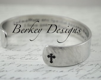 Godmother Gift / Christening Gift/ Godmothers are Special because they are Chosen Secret Message Hand Stamped Bracelet
