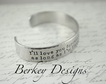 Mother's Day I'll Love You Forever Custom Hand Stamped Secret Message