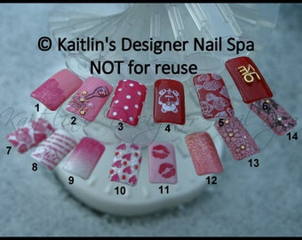 Valentine's Day Gel Artificial Nail Art