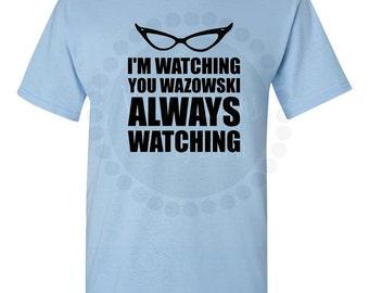 """Roz """"Always Watching Wazowski"""" Disney Monsters Inc  Tshirt"""
