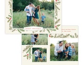 INSTANT DOWNLOAD - Christmas Holiday Card Photoshop template - E1369