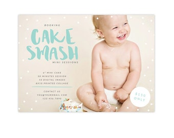 INSTANT DOWNLOAD - Cake Smash Marketing Board | Candy Topping -  E1350