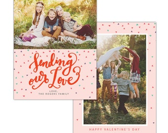 INSTANT DOWNLOAD - Valentine Photocard Template - e1191