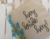 Bridal Bag, Bride Tote Bag Tote Bridal Gift Wedding Gift Engagement Gift, Shower Gift, Wedding Planning Gift,