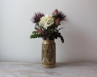 Vintage Studio Pottery Vase // Signed // Glaze // Stoneware