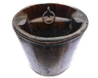 Victorian Well Bucket Antique Bucket Vintage Bucket Vintage Pail Vintage Woodenware Vintage Home Decor Vintage Housewares Antique Woodenware