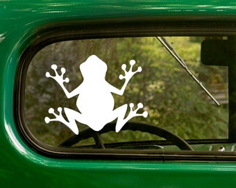 Tree Frog Decal, Frog Silhouette Decal, Tree Frog Sticker, Vinyl Sticker, Frog Sticker, Car Decal, Laptop Sticker, Vinyl Decal