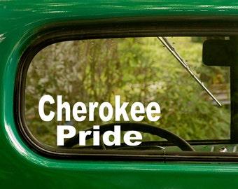 Cherokee Pride Decal, Car Decal, Vinyl Sticker, Laptop Sticker, Cherokee Sticker, Cherokee Indians, Native American, Vinyl Decal, Decals