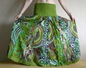 Long skirt - Gypsy Skirt - Patchwork Maxi Skirt - Peasant Skirt by Chandrika Shop - Violet multicolored skirt
