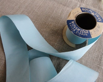 Vintage Grosgrain Ribbon Five Yards on Roll 2-1/8 Inches Wide