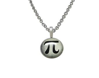 Mathematical Pi Symbol Pendant Necklace