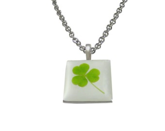 Square Clover Pendant Necklace