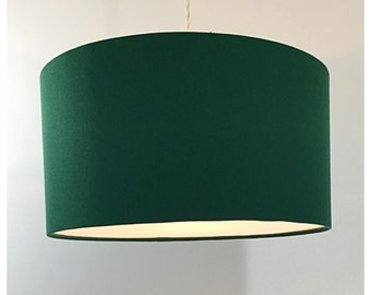 Large Oversized 45cm Drum Green Lightshade With Diffuser