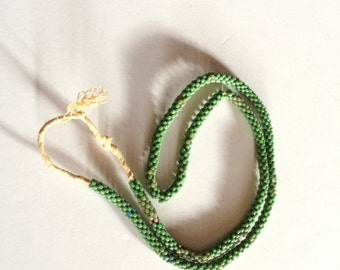 Strand of Antique Venetian Glass Beads Green Rare Trade 19th Century Venice