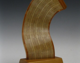 Modern abstract wood art scupture
