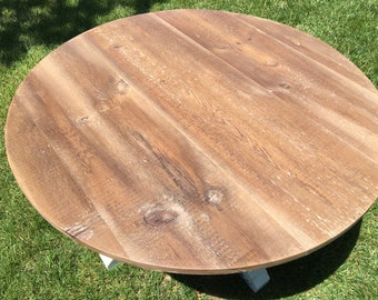ROUND COFFEE TABLE - reclaimed wood
