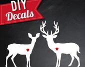 DIY | Deer Love | Buck & Doe Die-Cut Decals | For Wedding Cornhole