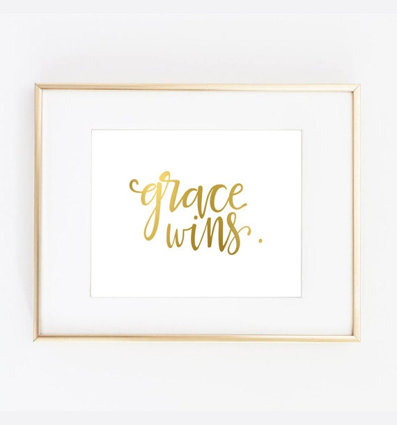 Items similar to grace wins print home decor on etsy for Best home decor on etsy