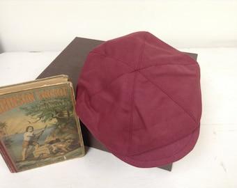 Burgundy newsboy Hat, maroon beret hat for little boys, pageboy hat,photo prop for boys