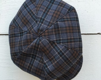 Grey Plaid newsboy hat, grey newsboys hat,  beret hat for boys